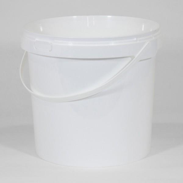 10.4L Round White Bucket
