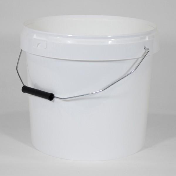 12.7L Round White Bucket