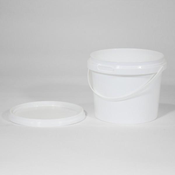 1L Round White Bucket