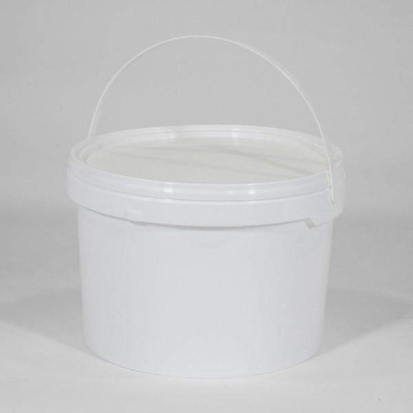 2.5L Round White Bucket