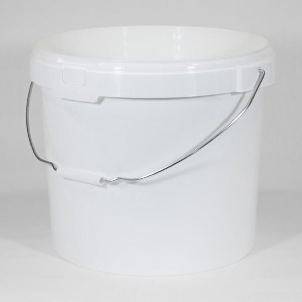 25L Round White Bucket