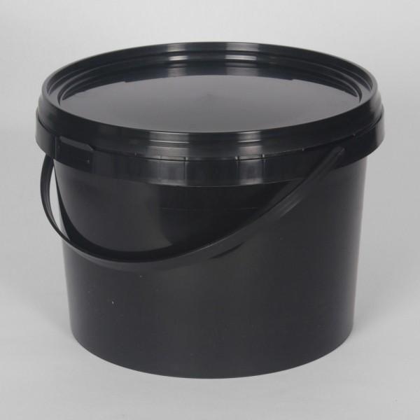 5L Black Round Bucket