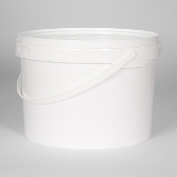 5L White Round Bucket