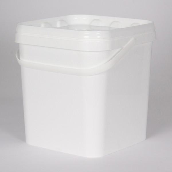 5L Square White Bucket