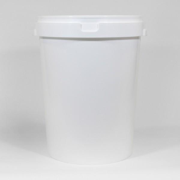 60L Round White Bucket