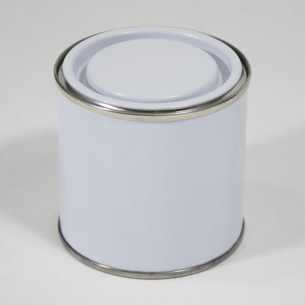 250ML White Lever Lid Tin