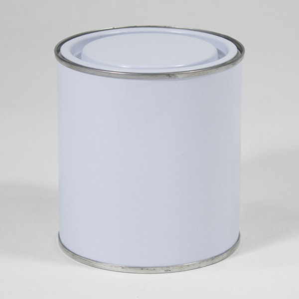 500ML White Lever Lid Tin