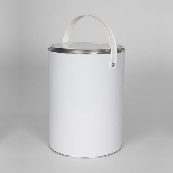 5L White Lever Lid Tin