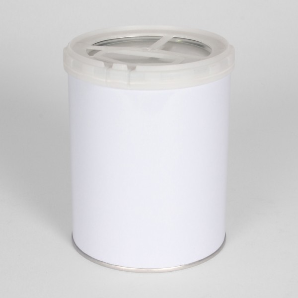 1L White Pail W/Plain Interior