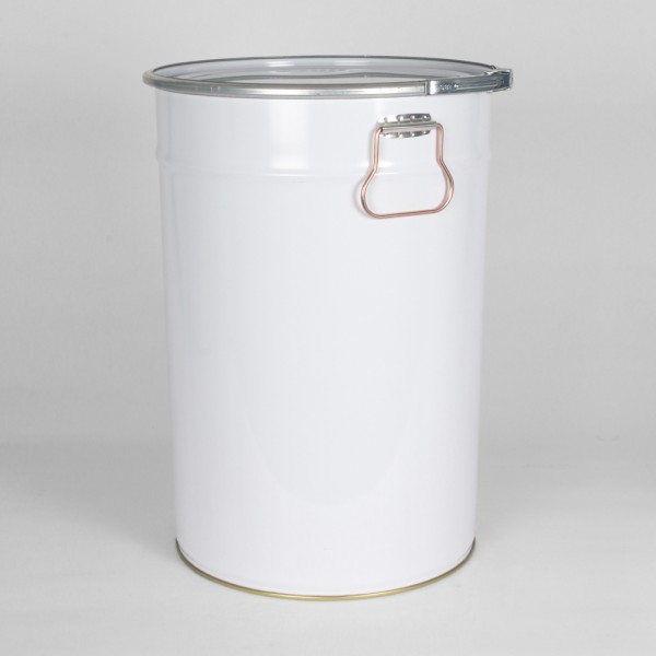 30L White Pail W/Plain Interior