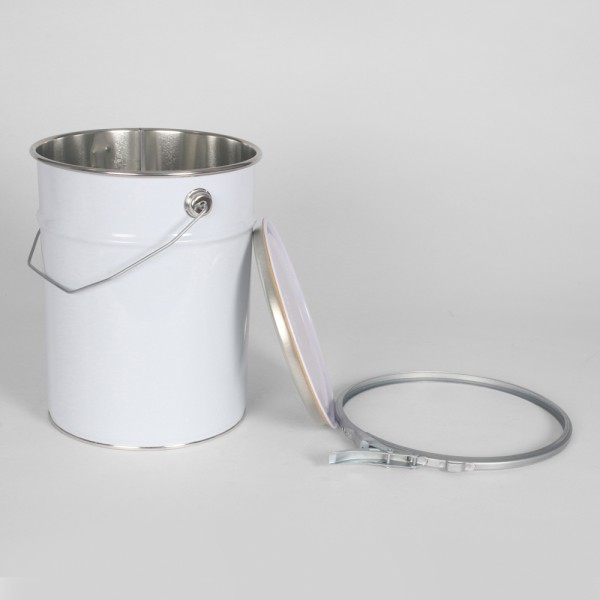 5L White Pail W/Plain Interior