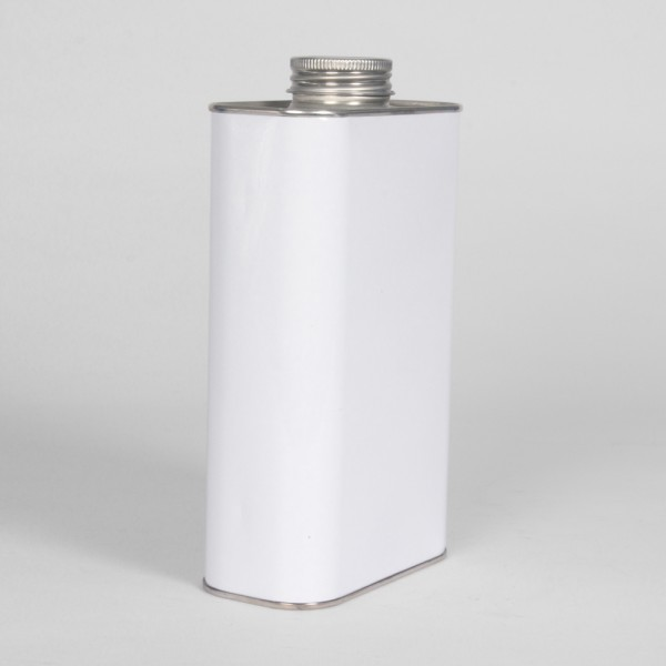 1L White Oblong Can W/38MM Neck