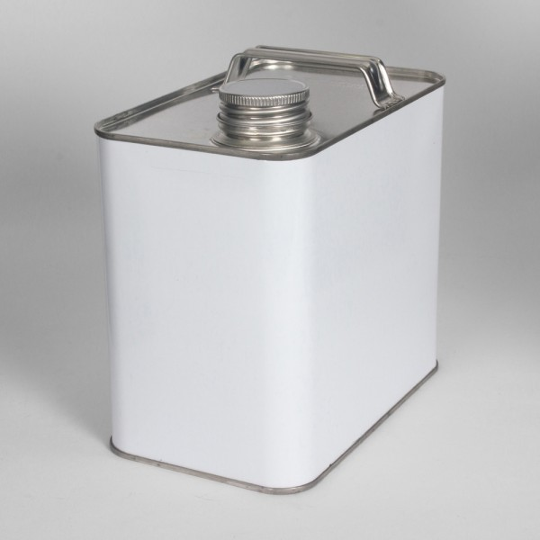 2.5L White Oblong Can W/38MM Neck