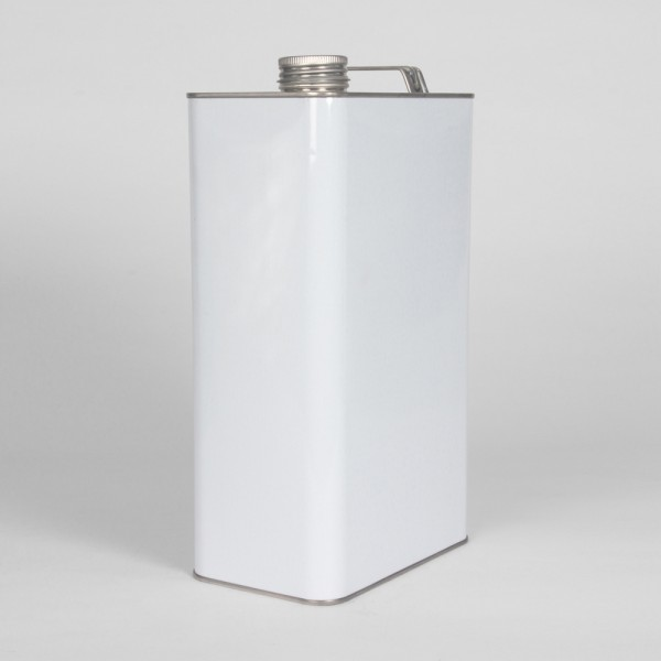 5L White Oblong Can W/38MM Neck