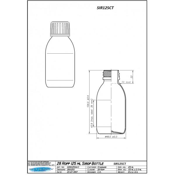125Ml Clear PET Bottle