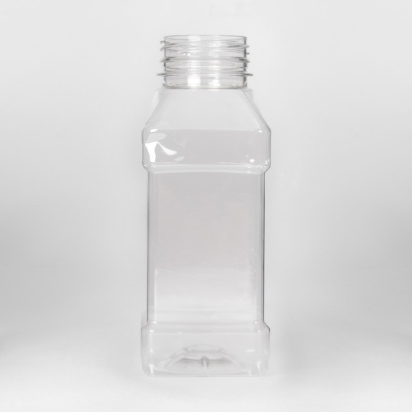 250Ml Clear Square PET Bottle