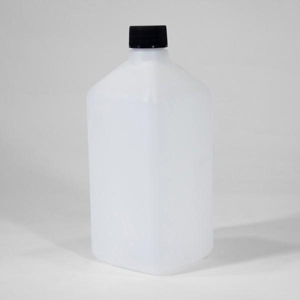 1L Natural Rectangular Plastic Bottle