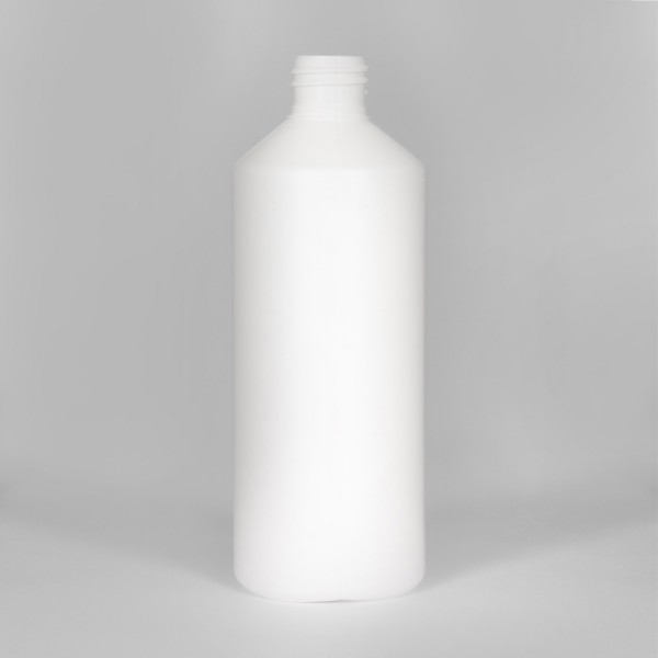 1L White Standard Plastic Bottle