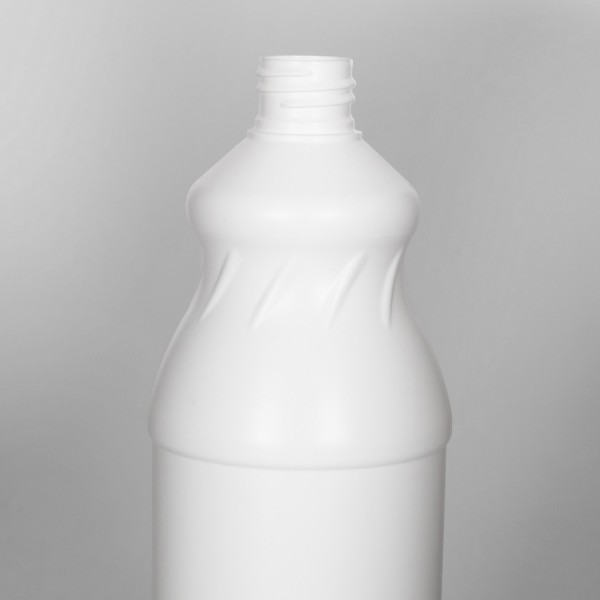 1L White Swirl Plastic Bottle