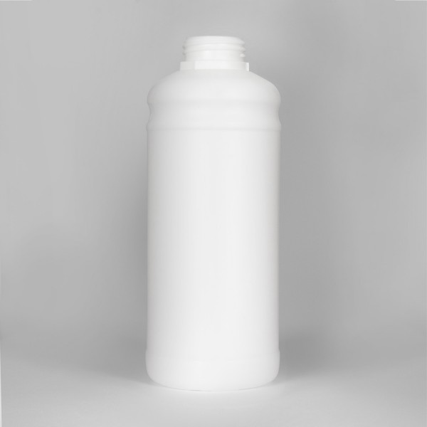 1L White Fluorinated UN Plastic Bottle