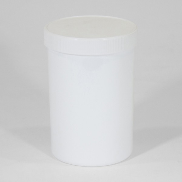 1250ML White Polyjar W/ Screw Cap