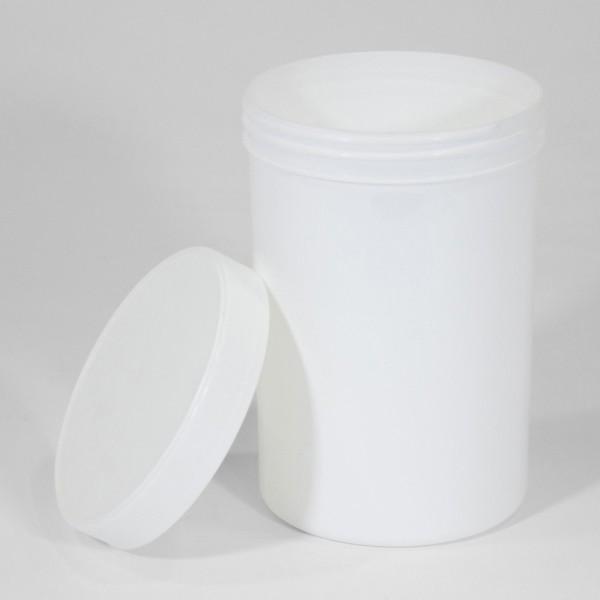 1250ML White Polyjar W/ Screw Cap