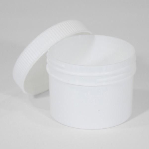 125ML White Polyjar W/ Screw Cap