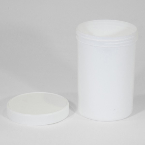 1750ML White Polyjar W/ Screw Cap