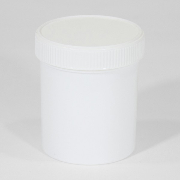 250ML White Polyjar W/ Screw Cap