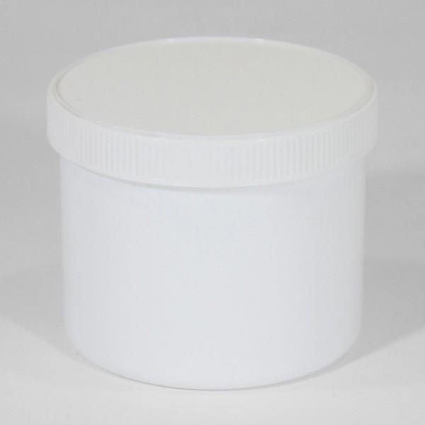 500ML White Polyjar W/ Screw Cap