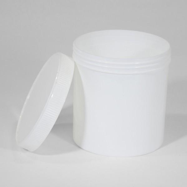 650ML White Polyjar W/ Screw Cap