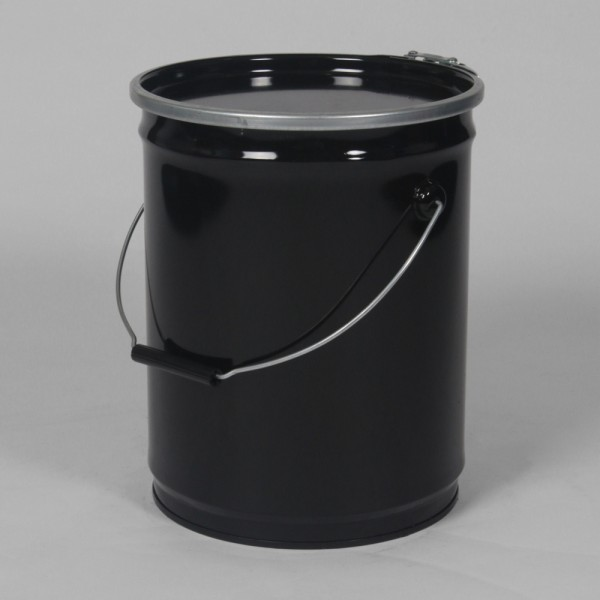 "10"" X 13"" (14.5L) Black Open Top Keg W/Lacquered Interior"