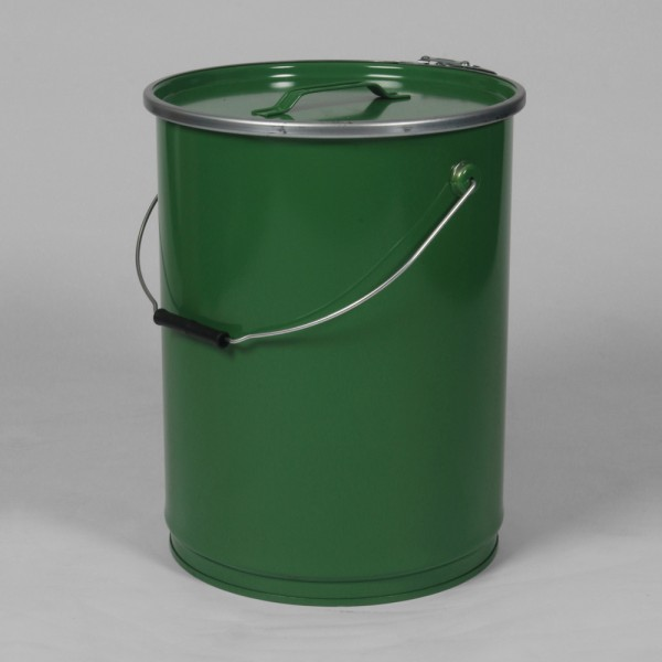 "12"" X 16"" (26L) Green Open Top Keg W/Lacquered Interior"