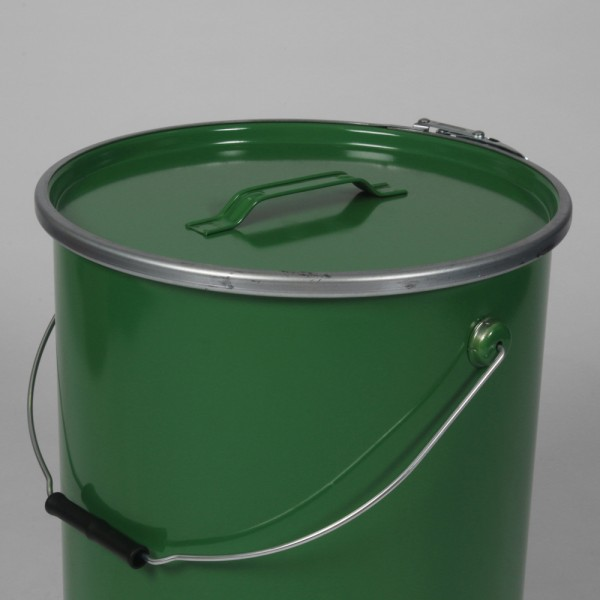 """12"""" X 16"""" (26L) Green Open Top Keg W/Lacquered Interior"""