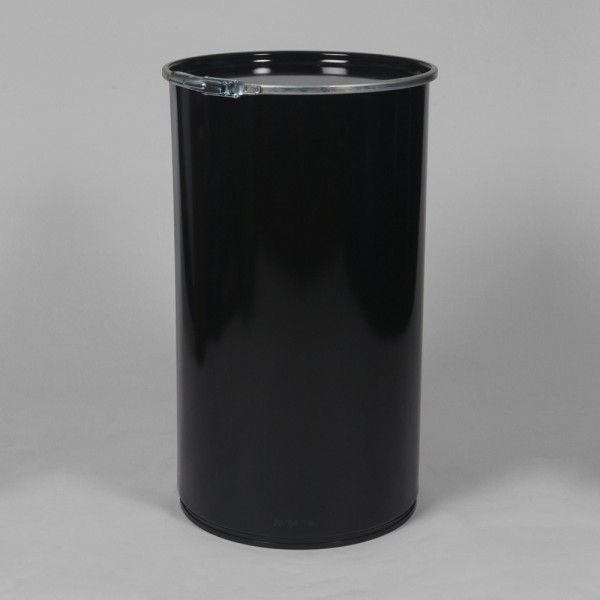 "14"" X 25"" (55L) Black Open Top Keg"