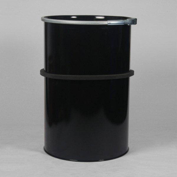 210L Black Straight Sided Drum W/Lacquered Interior