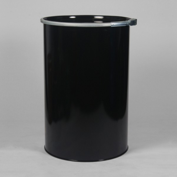 210L Black Straight Sided Reconditioned Drum