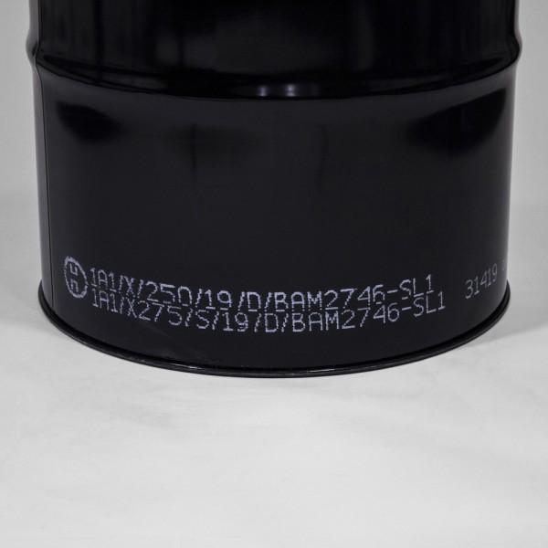 210L Tight-Head Black Drum W/Lacquered Interior