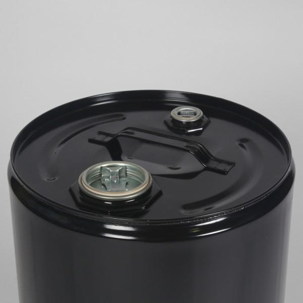 25L Tight-Head Black Drum W/Lacquered Interior