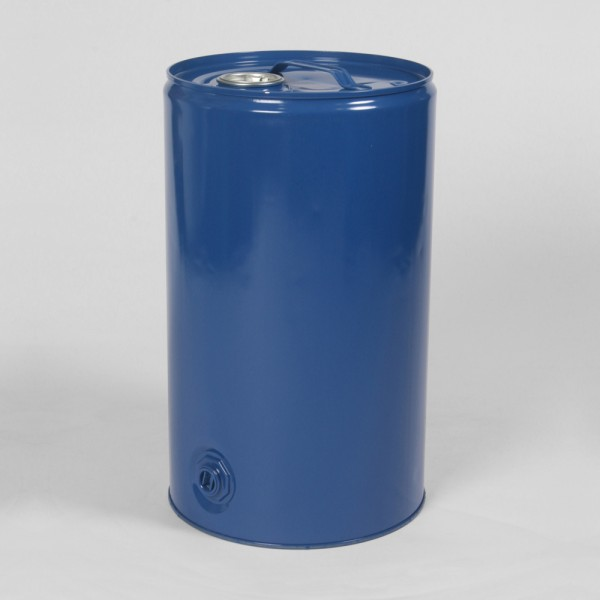 25L Tight-Head Blue Drum W/Body Bung