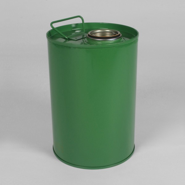 5L Tight-Head Green Drum W/Lacquered Interior